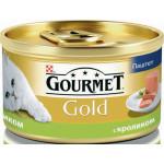 Консервы для кошек GOURMET Gold мусс с кроликом, 85 г