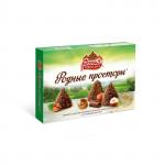 Шоколадные конфеты РОССИЯ Родные просторы с фундуком, 200г