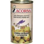 Оливки ACORSA фаршированные Анчоусом, 350г
