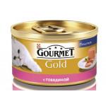 Консервы для кошек GOURMET Gold мусс с говядиной, 85г