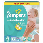 Подгузники PAMPERS Active baby maxi 4 (7-14 кг), 147 шт
