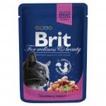 Корм для кошек BRIT с лососем и форелью, 100г