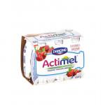 Функциональный напиток ACTIMEL земляника/шиповник в упаковке, 6*100 г