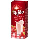 Молочный коктейль ЧУДО Клубника 2% , 200г