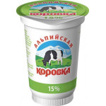 Сметанный продукт АЛЬПИЙСКАЯ КОРОВКА,  15% 400г