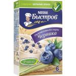 Каша овсяная БЫСТРОВ Ассорти (персик, черника, клубника), не требующая варки, 6x40 г