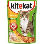 Корм для кошек влажный KITEKAT с курицей в желе пауч, 85г