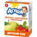 Сок АГУША Яблоко-шиповник в упаковке, 3х200мл