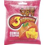 Сухарики ТРИ КОРОЧКИ семга с сыром, 40г