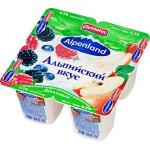 Йогуртовый продукт EHRMANN Alpenland лесная ягода яблоко и груша, 4х95г