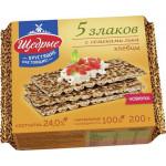 Хлебцы ЩЕДРЫЕ 5 злаков с семенами льна, 200г