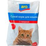 Корм для кошек ARO сухой с говядиной, 2,4кг