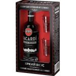 Ром BACARDI Carta Negra + 2 стакана в подарочной упаковке, 0,7л