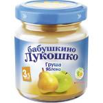 Пюре БАБУШКИНО ЛУКОШКО груша и яблоко, 100 г