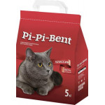 Наполнитель для кошачьего туалета PI-PI-BENT комкующийся пакетированный, 5 кг