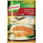 Приправа KNORR На второе нежная рыба в белом соусе с травами, 23г