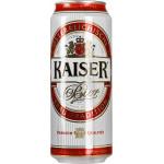 Пиво светлое KAISER лагер железная банка, 0,5л