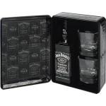 Виски JACK DANIEL'S + 2 стакана подарочная упаковка, 0,7л