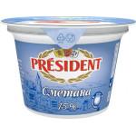 Сметана PRESIDENT 15%, 180г