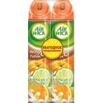 Освежитель воздуха AIR WICK Анти-табак Апельсин и бергамот в упаковке, 2х240мл