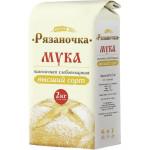 Мука пшеничная хлебопекарная РЯЗАНОЧКА высший сорт, 2 кг