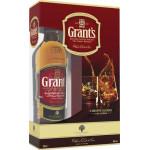 Виски GRANT`S в подарочной упаковке + 2 стакана, 0,75л