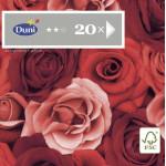Салфетки DUNI Romance трехслойные 33х33 см в упаковке, 20 штук