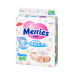 Подгузники MERRIES S 3 (4-8 кг), 82шт