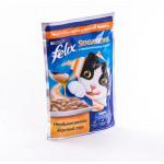 Корм для кошек FELIX Sensations с индейкой в соусе со вкусом бекона, 85г