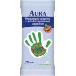 Влажные салфетки AURA антибактериальные, 72шт
