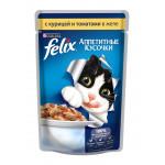Корм для кошек FELIX с курицей и томатами в желе, 85г