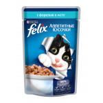 Корм для кошек FELIX с форелью в желе, 85г