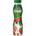 Йогурт АКТИВИА Питьевой Клубника/Земляника 2%, 290г