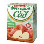 Сок ФРУКТОВЫЙ САД яблочный с мякотью, 0,2л
