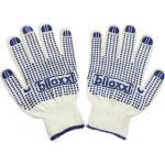 Перчатки BILOXXI х/б с ПВХ в упаковке, 12 пар