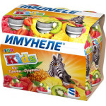 Напиток кисломолочный ИМУНЕЛЕ For kids Тутти-фрутти 1,5% в упаковке, 6х100г