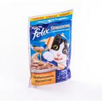 Корм для кошек FELIX Sensations с треской в соусе с томатами, 85г