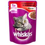 Корм для кошек WHISKAS Рагу с говядиной и ягненком, 100г