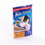 Корм для кошек FELIX Sensations с говядиной в соусе с томатами, 85г