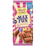 Шоколад ALPEN GOLD Max Fun Арахис, 160г