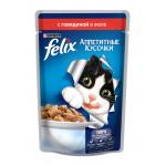 Корм для кошек FELIX с говядиной в желе, 85г