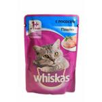 Мокрый корм для кошек WHISKAS паштет с лососем, 85г
