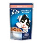 Корм для кошек FELIX с лососем в желе, 85г