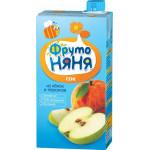 Сок ФРУТОНЯНЯ из яблок и персиков, 500г