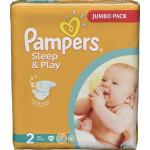 Подгузники PAMPERS Sleep and Play mini 2 (3-6кг), 88шт