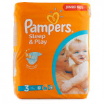 Подгузники PAMPERS Sleep and Play mini 3 (4-9кг), 78шт