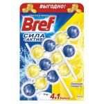 Средство для унитаза BREF Сила Актив лимонная свежесть в упаковке, 3х50г