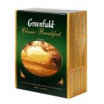 Чай черный GREENFIELD Сlassic Breakfast пакетированный в упаковке, 100х2г
