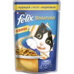 Корм для кошек FELIX с курицей в желе с морковью, 85г
