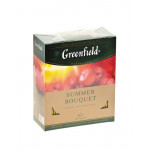 Чай травяной GREENFIELD Summer Bouquet с ароматом малины пакетированный, 100х2г